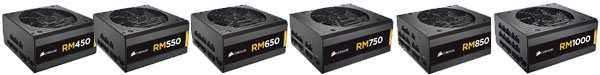 corsair rm series modular power supply specifications and price