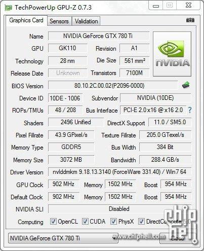nvidia geforce gtx 780 ti gpu z