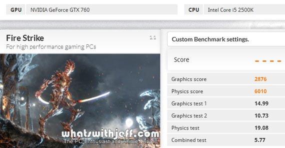 Asus GTX760-DC2OC-2GD5 3DMark Fire Strike Extreme Benchmark