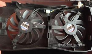 Asus GTX760-DC2OC-2GD5 fans back