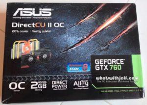 asus GTX760-DC2OC-2GD5 packaging