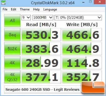 seagate 600 240GB crystaldiskmark benchmark