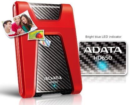 ADATA DashDrive Durable HD650 Portable Hard Drive with Shockproof Design Now Available