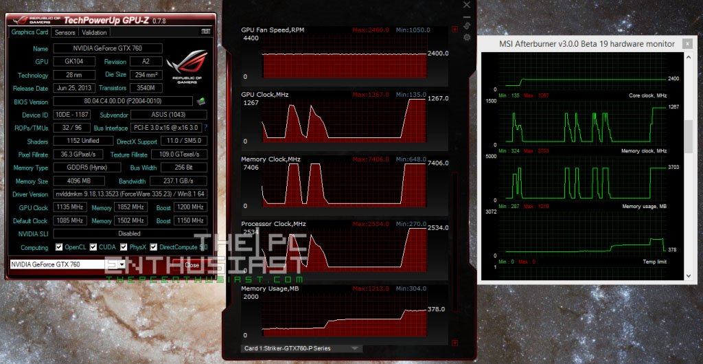 Asus Striker GTX 760 Memory Clock speeds