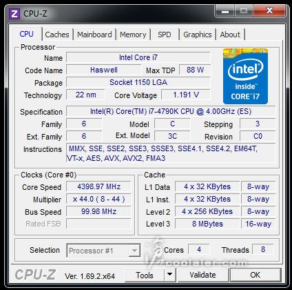 Intel Core i7-4790K CPU-Z Screenshot Revealed - Shows 4 0GHz base