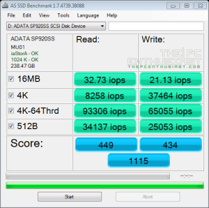 ADATA SP920 AS SSD benchmark02