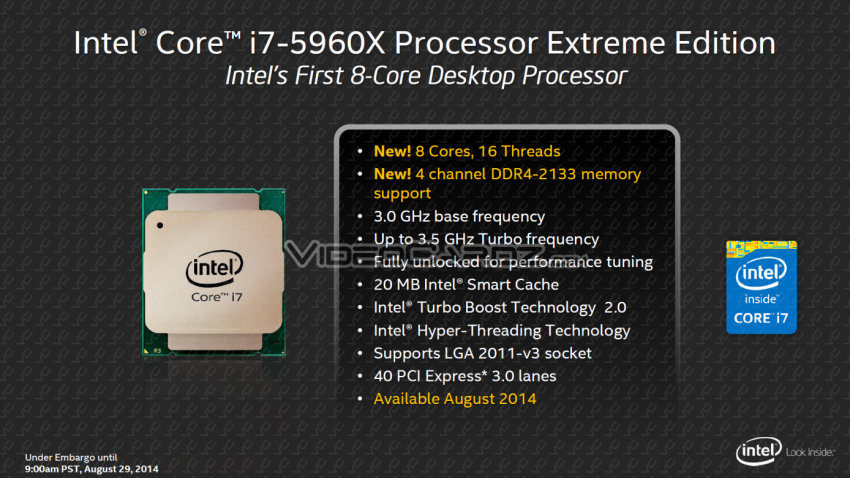 Intel Core i7-5960X Extreme Edition Features