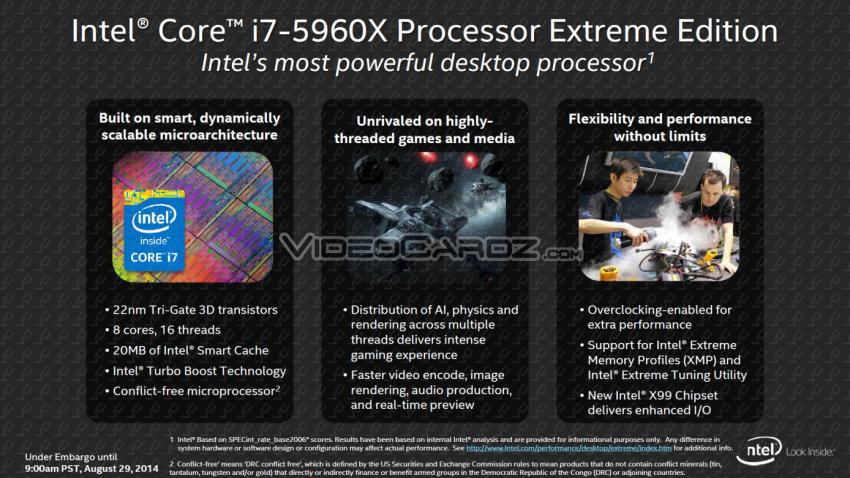 Intel Core i7-5960X Specs