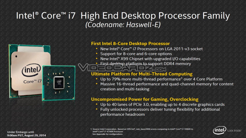 Intel Core i7 Haswell-E Features