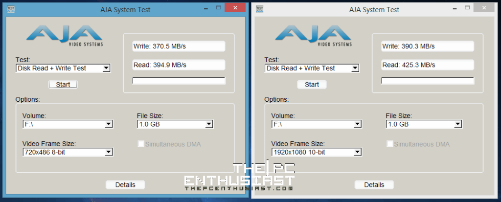 Akitio aDrive U3 AJA System Benchmark