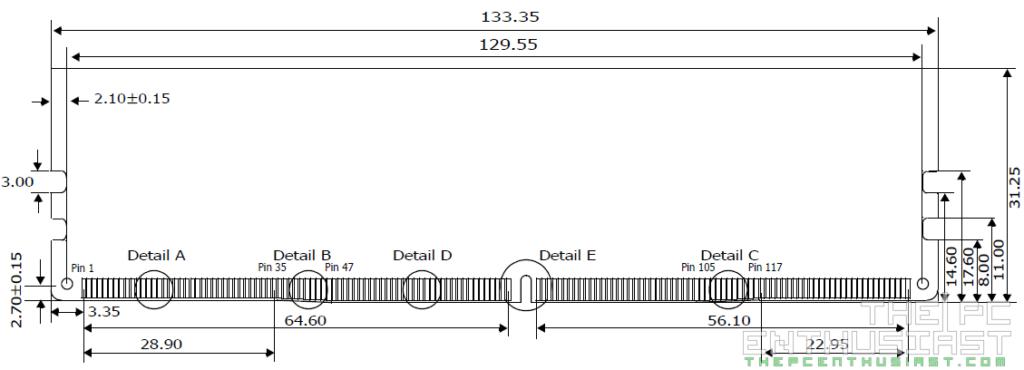 Kingston HyperX Predator DDR4 Dimensions