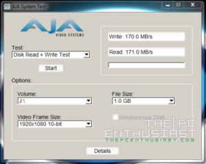 WD Red 5TB AJA 1080p