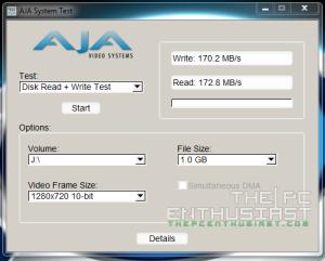 WD Red 5TB AJA 720p