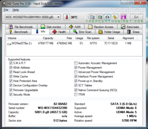 WD Red 5TB HD Tune Pro Info