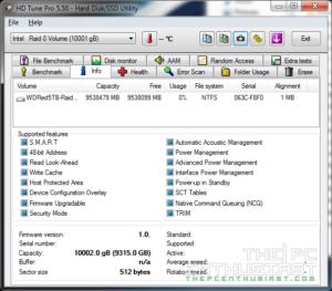 WD Red 5TB RAID 0 HD Tune Pro Info