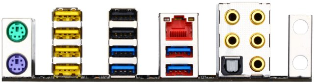 Gigabyte X99M-Gaming 5 Rear IO ports