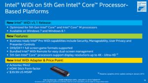 Intel WiDi with 5th Gen Broadwell