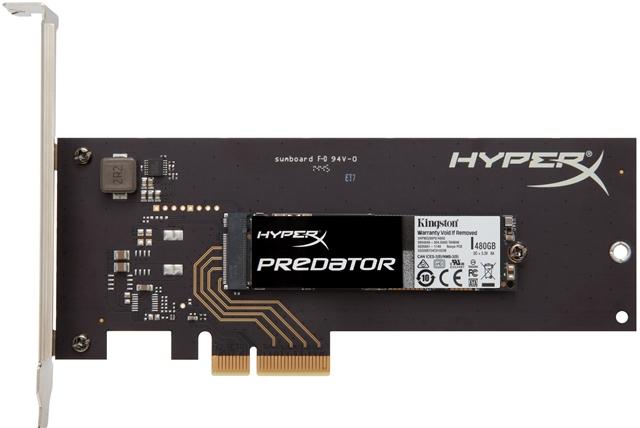 Kingston HyperX Predator PCIe SSD SHPM2280P2H_480GB