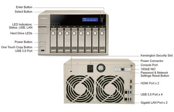QNAP TVS-863+ Golden Cloud Turbo vNAS Specifications