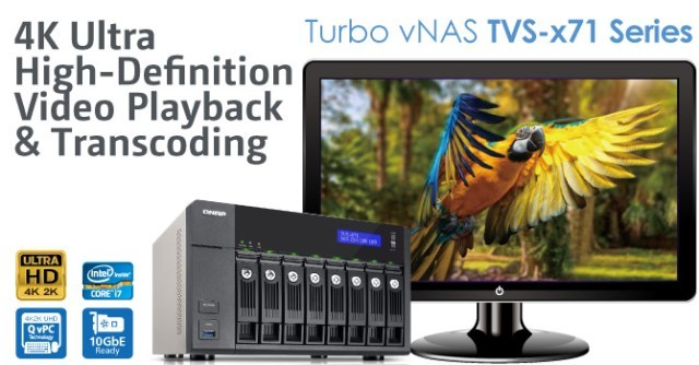 QNAP TVS-x71 Series Turbo vNAS Released – Features 4K Ultra HD Video Playback and Transcoding