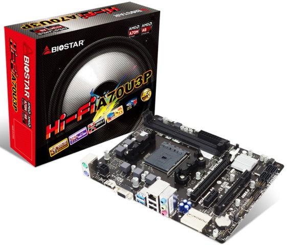 Biostar Hi-Fi A70U3P features