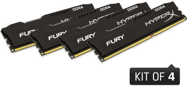 HyperX Fury DDR4 Memory Kits, Predator DDR4 Now Available in 32GB and 64GB Kits