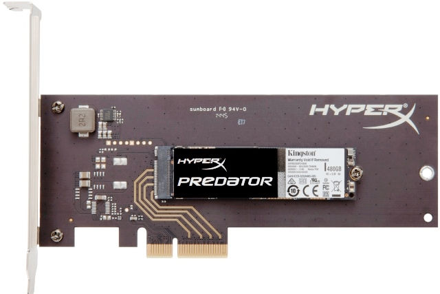 Kingston HyperX Predator PCIE SSD Now Official