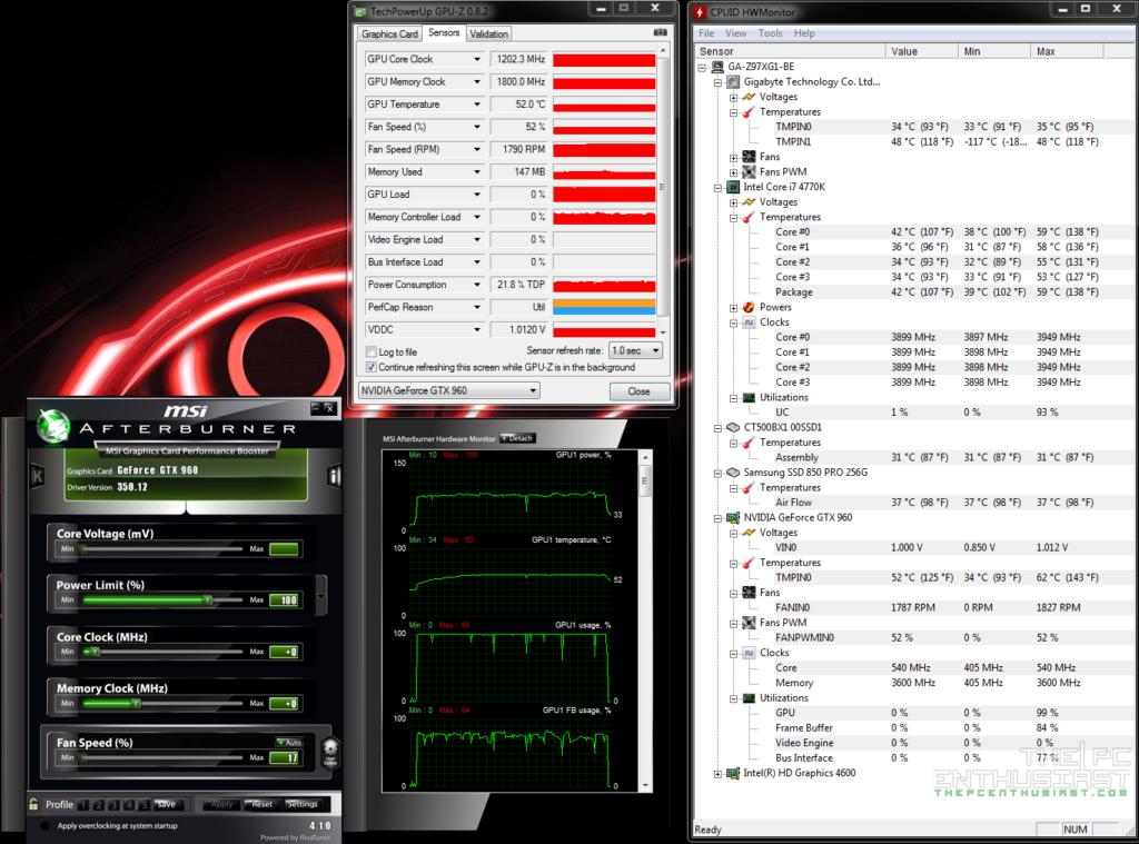 Asus Strix 960 load temp