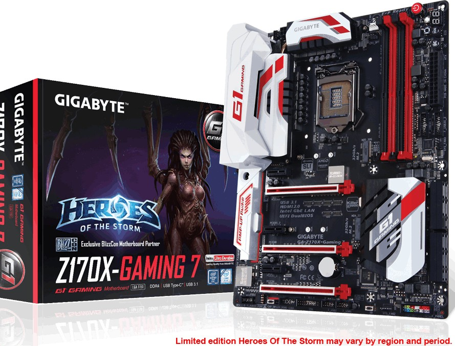 Gigabyte Z170 Gaming and Ultra Durable Motherboards Released