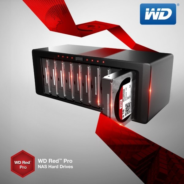 WD Red Pro 6TB and 5TB Hard Drives Announced