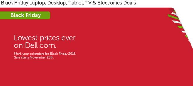 Dell Black Friday Deals 2015