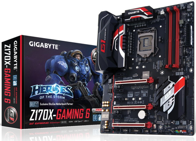 Gigabyte Z170X Gaming 6 Motherboard Released – See Features and Specs