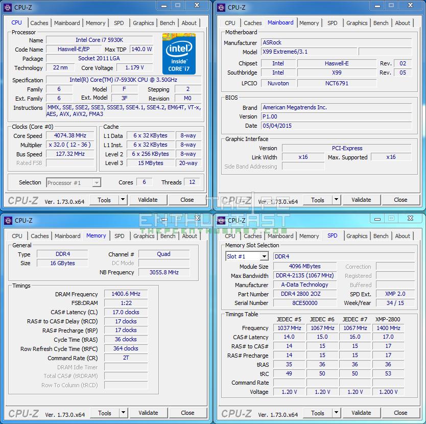ADATA XPG Z1 DDR4 X99 CPUZ-XMP