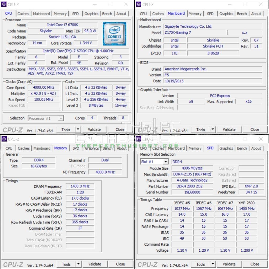 ADATA XPG Z1 DDR4 Z170 CPUZ-XMP