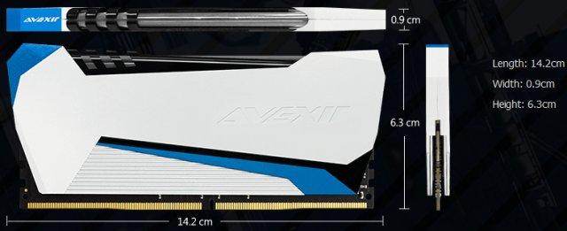 Avexir Raiden DDR4 Dimensions