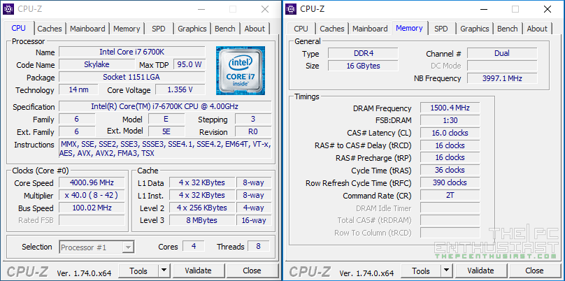 Patriot Viper 4 DDR4 3000 OC CPU-Z