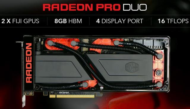 AMD Radeon Pro Duo Water Cooling by Cooler Master