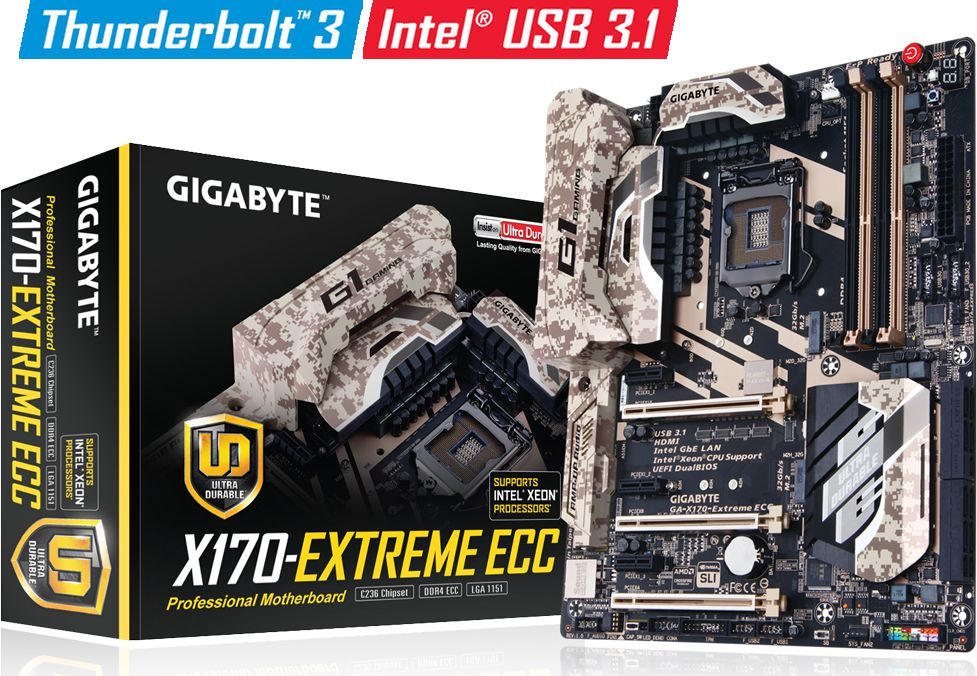 Gigabyte X170-Extreme ECC Motherboard Released - First Intel