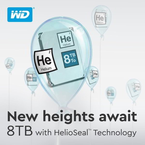 WD 8TB Helium-Filled Drives Released - Features HelioSeal