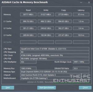 GA-Z170N Gaming 5 AIDA64 Memory Benchmark