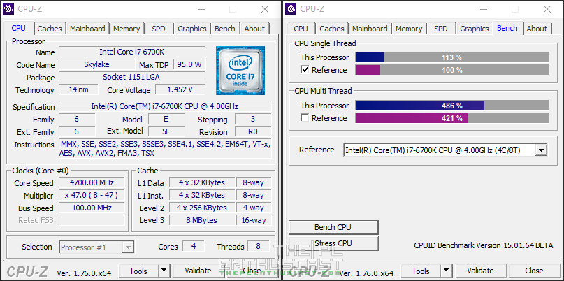 GA-Z170N Gaming 5 CPU-Z OC Benchmark