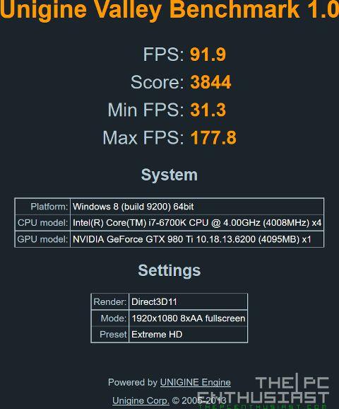 GA-Z170N Gaming 5 Valley Benchmark