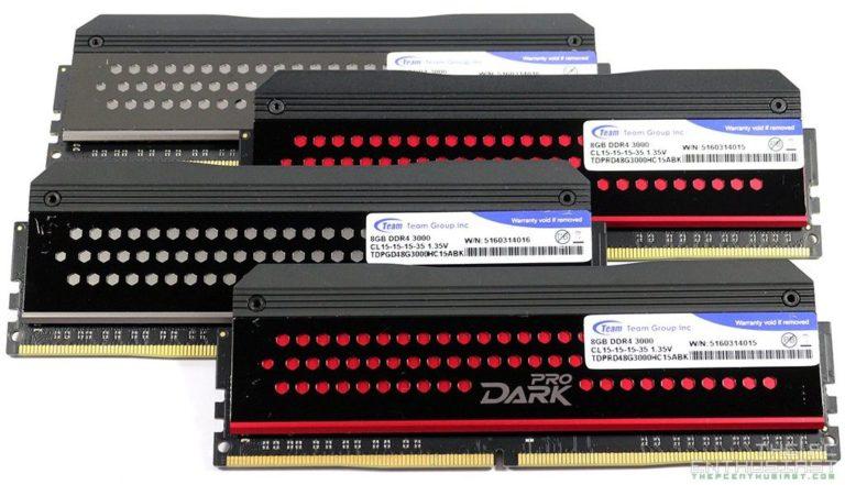 Team DARK Pro DDR4-3000 16GB Review Dual Channel Kit