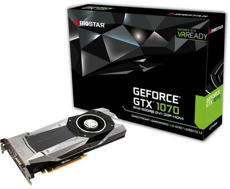 BIOSTAR GeForce GTX 1070 Graphics Card Launched For VR and Ultra HD Gaming