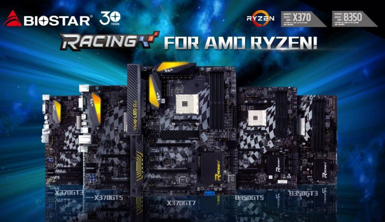 Biostar Racing X370 and B350 AM4 Motherboards Released – Racing X370GT7 Leads the Pack