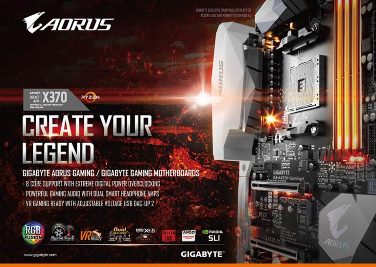 Gigabyte AORUS and Gaming Series AM4 Motherboards Unleashed – See Features, Specs and Availability