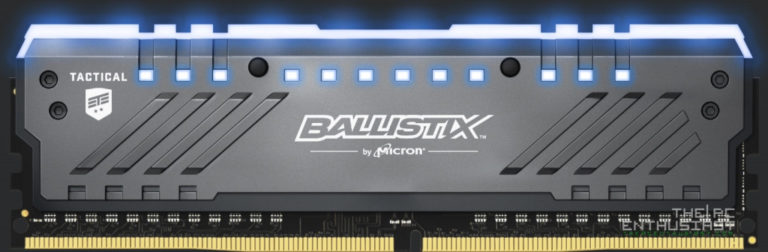 Crucial's Ballistix Tactical Tracer DDR4 RGB Gaming Memory Modules Announced