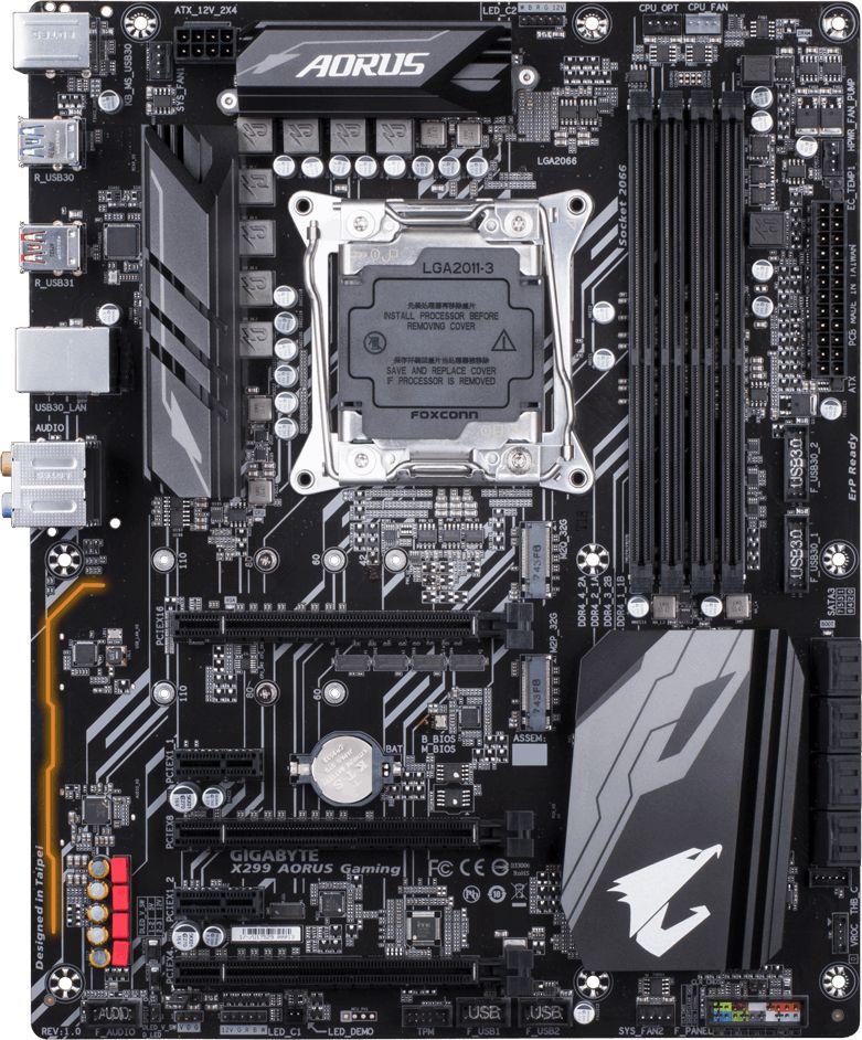 Gigabyte X299 Aorus Gaming Motherboard Released - See