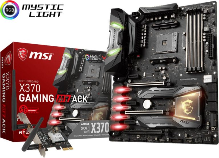 MSI X370 Gaming M7 ACK Motherboard Released – See Features and Specs
