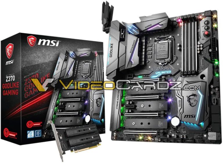 MSI Z370 Godlike Gaming and ASRock Z370 Motherboards Surfaced – Here's How They Look!